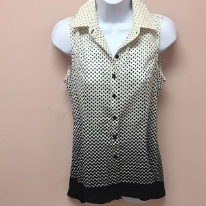 Polka Dot Button Down Tank
